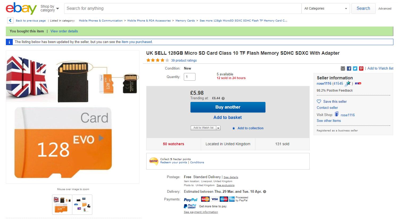 Cheap SD Cards from eBay are Fake - Raspberry Pi Spy