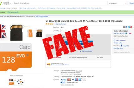 eBay microSD Card Fake