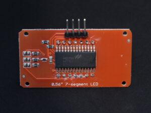 4-digit 7-segment LED module back