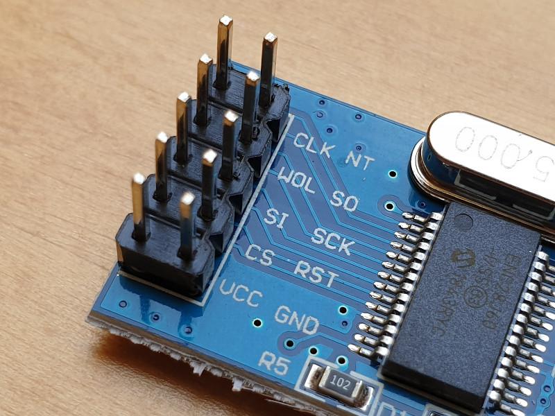 ENC28J60 Module Pin Connector