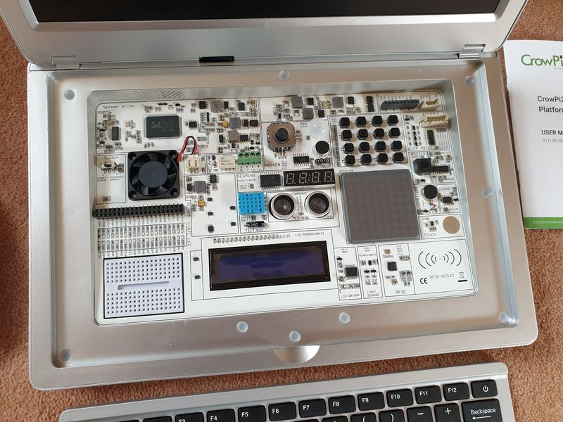 CrowPi2 showing the sensor board