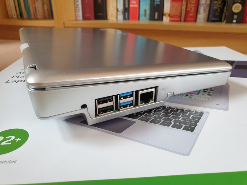 CrowPi2 side view showing Pi ports